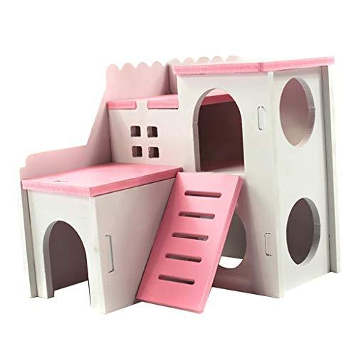 Mxjxj Escondite Mascota Pequeños Animales 2 Capas con escaleras de diseño, Caseta...