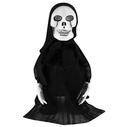 NUOBESTY Halloween Bambola Raccapricciante Animata Spaventoso Dondolo Fantasma Casa Stregata Display Ingresso Cimitero (Senza Batterie)