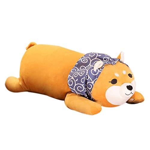 About1988 Good Night umarmungskissen,Welpen Plüsch Gefüllte Weiche Kissen Puppe Anime Cartoon Doggo Nette Stofftier Geburtstagsgeschenk (Blau, S)