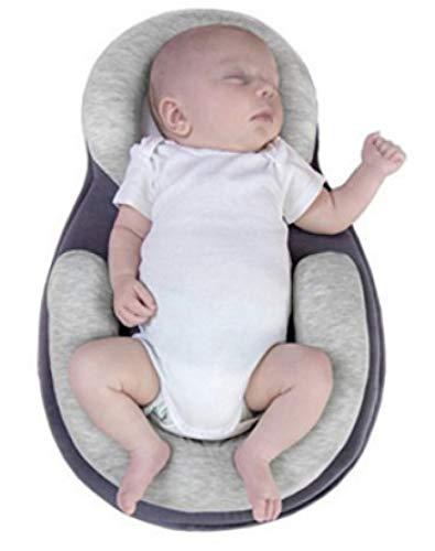 YANGGUANGBAOBEI Baby-Matratze Mit Stillkissen Geeignet Baby-Schutzkissen Baby-Isomatte Für Neugeborene Und Kleinkinder Im Alter Von 0-6Monaten,Grey
