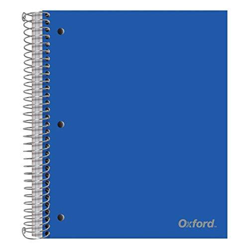Oxford Cuaderno de alambre, 11 x 9 pulgadas, tapas surtidas (sin elección de color), 150 hojas, rayado universitario, perforado, cubierta de poliéster (10586)