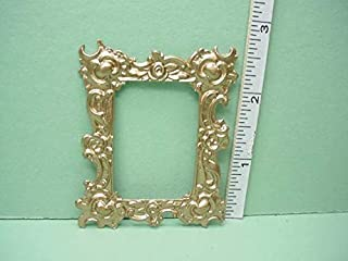 Dollhouse Miniature Accessories & Furniture Picture Frame - #26 1/12th Scale Painted Metal, No Inset