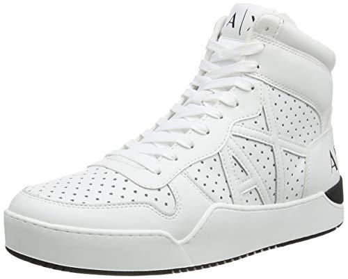 Armani Exchange Herren HIGH TOP Hohe Sneaker, Weiß (Optical White 00152), 44 EU