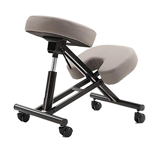 KELUNIS Ergonomic Kneeling Chair, Height Adjustable Home Office Chairs with Wheel and Thick Cushion Pad Improve Posturenow & Neck Pain