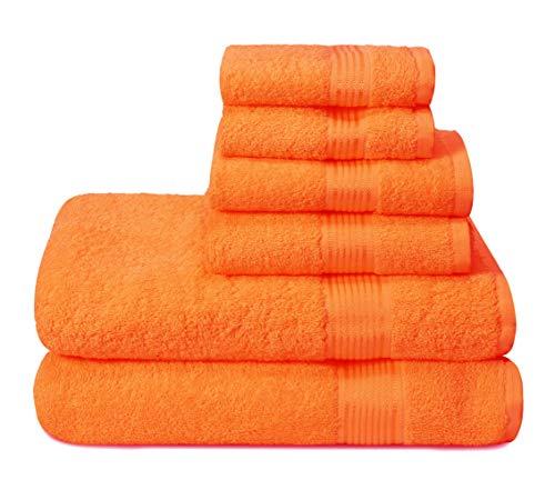 Elvana Home Ultra Soft 6 Pack Cotton Towel Set, Contains 2 Bath Towels...