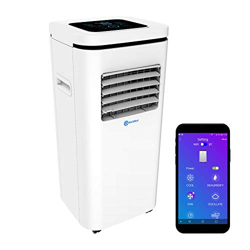 ROLLICOOL Alexa-Enabled Smart Portable AC 10,000BTU — Cool & Dehumidify Rooms up to 275 sq ft, Control w/Alexa Voice Commands, Dual-Band WiFi & Bluetooth, iOS/Android App