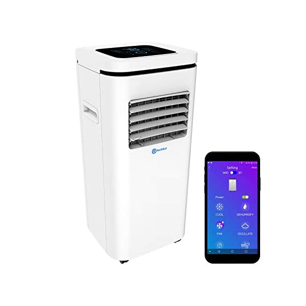 Rollibot ROLLICOOL Portable Air Conditioner w/App & Alexa Voice Control   Wi-Fi...