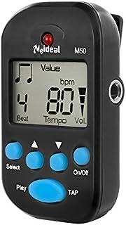 Ballylelly Clip-On ligero y port/átil Mini LCD Digital Beat Tempo Metronome con pantalla LCD transparente y bater/ía de la c/élula negro