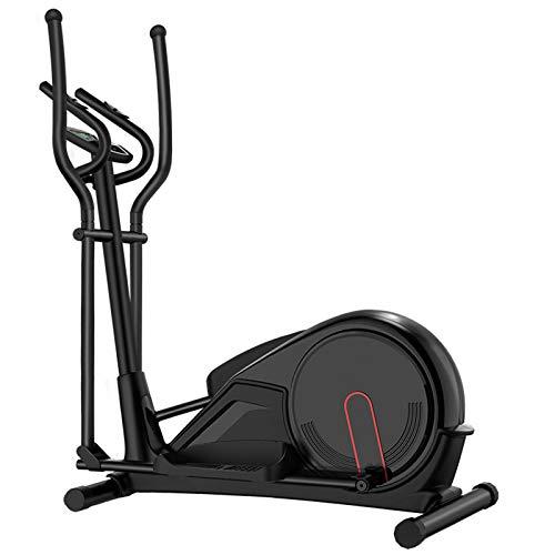 AORISSE Cyclette Ellittica, Ellittica Professionale Magnetron Macchina Ellittica Attrezzo Fitness con 8 Livelli di Resistenza Magnetica Regolabile, con Schermo LCD E Test della Frequenza Cardiaca