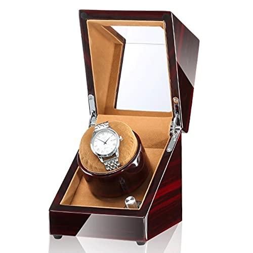 ANTLSZH Raya De Reloj Automática con 5 Modelos De Rotación, Relojes Mecánicos De Relojes Mecánicos De Madera Súper Tranquila para Hombres Y Mujeres Relojes para Hombres Y Mujeres(Color:marrón)