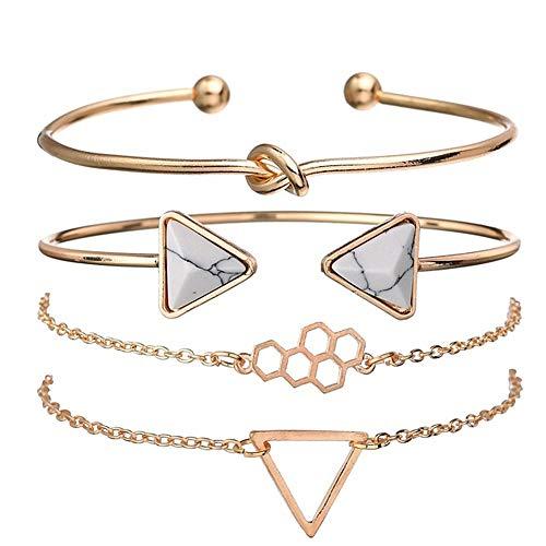 lffopt Braclet Silver Bracelet for Women Small Gifts for Women Friendship Bracelet Braclets for Women Cheap Teen Girl Gifts Love Bracelet Gift for Women Gold
