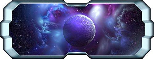 Thorpe Signs Finestra Spazio Alien Planet Galaxy Stars Full Colour Wall Art Decalcomania cameretta Ragazzi, X Large: 150cm x 57cm (59in x 23in)