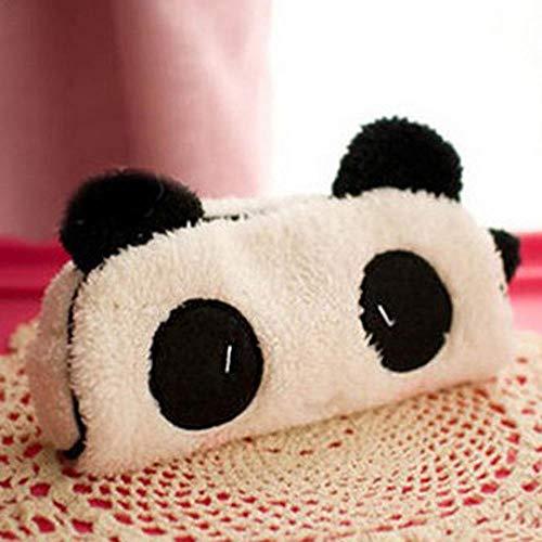TYUI Korean Cute 3D Plush Panda Pencil Case Big Large Capacity Multifunction Pen Bags for Kids School Stationery