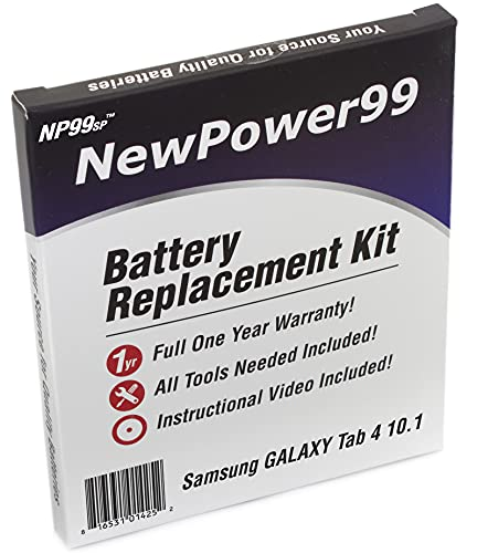 NewPower99 Battery Replacement Kit with Battery, Instructions and Tools for Samsung GALAXY Tab 4 10.1