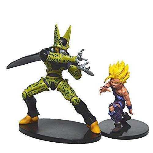 XXSDDM-WJ Regalo Anime Dragon Ball Z Figura de acción Súper Saiyan Goku Gohan Célula Figura Juguetes PVC Modelo Brinquedos Coleccionables 17 cm Celular-15cm_Goku KA236 KA236