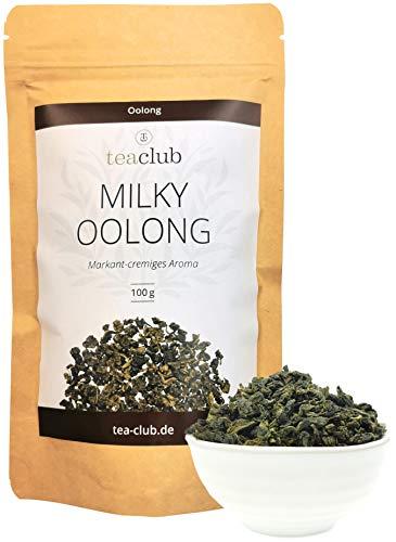 MILKY OOLONG 100g, Premium Oolongtee mit Grüntee Charakter, Halbfermentierter Grüner Tee Lose, TeaClub Green Tea Loose Leaves