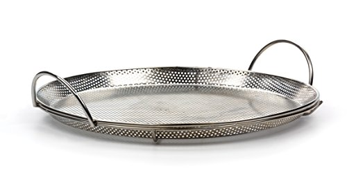RSVP International Endurance Stainless Steel Precision Pierced Pizza Pan, 11.5' | Use on Grill or Oven | Brown Crispy Crust Without Burning Pizza | Dishwasher Safe