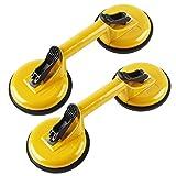everfarel ventosa aspirador goma Cristal Aluminio vacío Heber (2X amarillo dos garras)