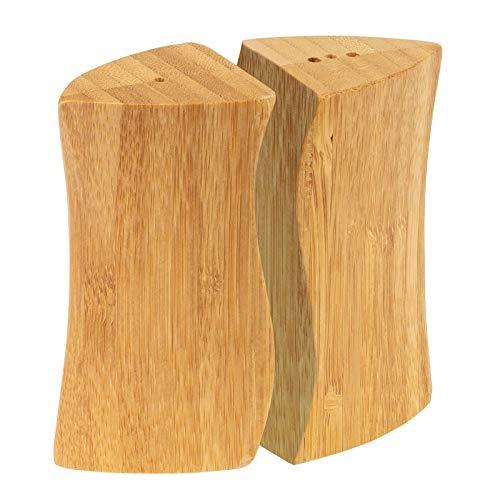 Westmark Salz- und Pfeffer-Streuer-Set, 2-tlg., Füllvolumen: je 15 ml, Bambus, Tapas + Friends, Hellbraun, 70062270