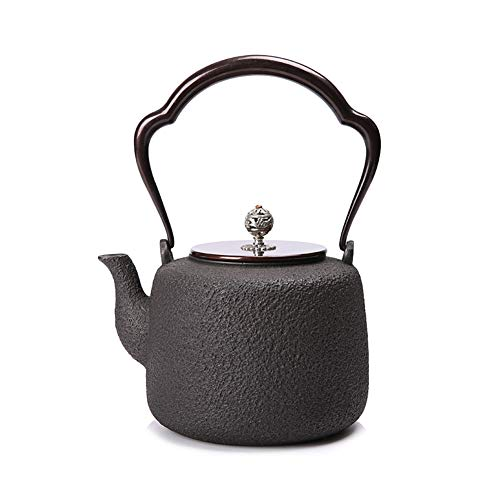 MNSSRN Japanese-Style Cast Iron Teapot, Boiled Water Ironware, Hand-Cast Uncoated Large-Capacity Iron Teapot, Kettle, Hip Flask