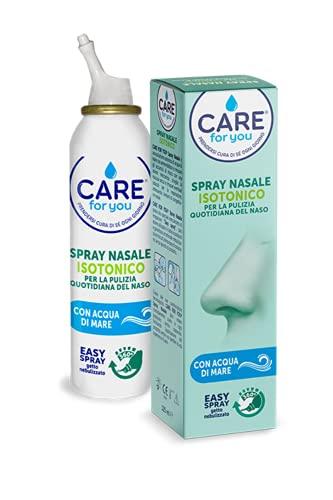None Care For You Spray Nasale Isotonico, con Acqua di Mare Ricca di Oligoelementi, per la Pulizia Quotidiana Del Naso, 125 ml