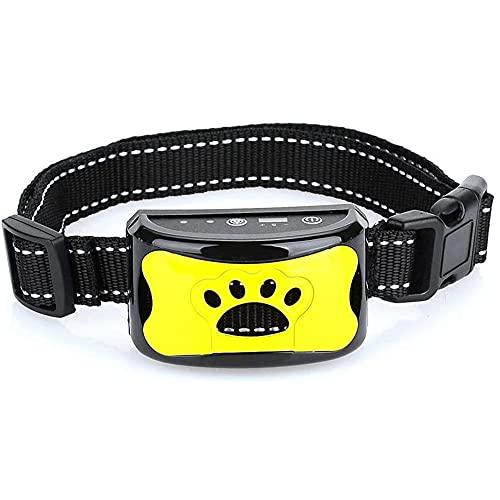 LUOQI Collares Antiladridos de Perro, 7 Sensibilidad Ajustable Sin Descarga Eléctrica, Collar de Entrenamiento Recargable Seguro con Función Pitido + Vibración para Perro Dog Anti Bark Collar