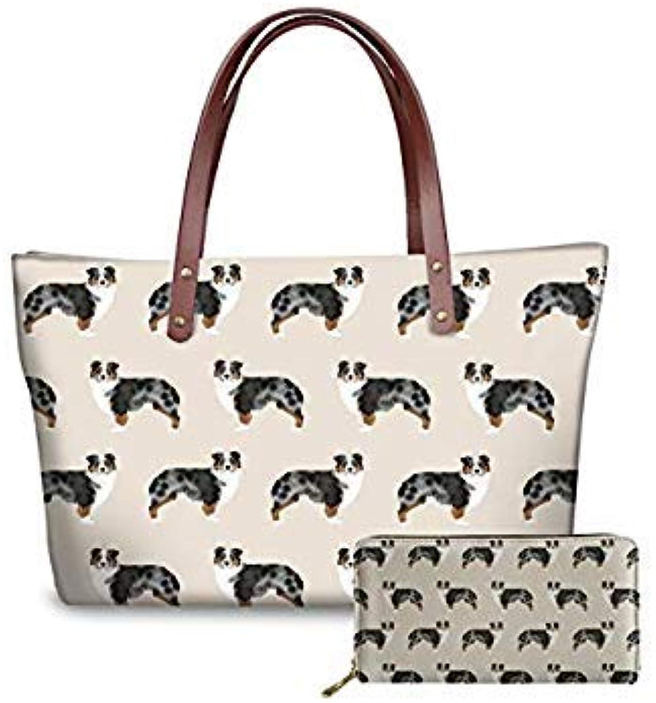 Bloomerang THIKIN Leisure Handbag for Ladies German Shepherd Pattern Women's Big Shoulder Bag Fashion Summer Top-Handle Bags Female Totes color ZJZ154ALZ21 49x29x39x11.5cm