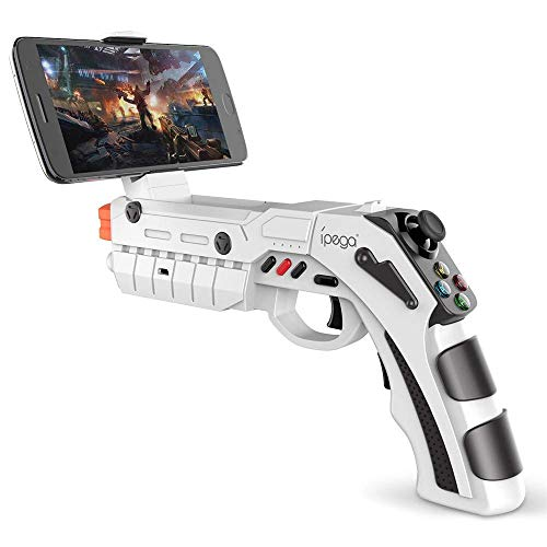 DoinMaster Bluetooth Gamepad Shooting AR Gun Joystick for Android iOS Phone iPhone iPad AR Game Controller with Motor Vibration