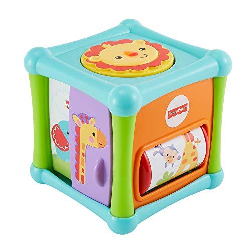 Fisher-price Cube D'activités Amis de la Jungle à 5 Côtés, Jouet D'éveil pour Bébé, 6 Mois et Plus, Bfh80