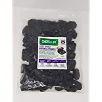 CHEFS & CO Suaves Ciruelas Pasas sin hueso ( sin azúcar ) -750 g | 100% frutas naturales enteras | Calidad Superior | Sin aditivos, Sin azufre y Sin azúcar | Recién Sellado