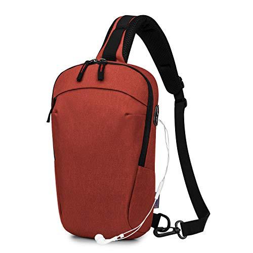 Wind Took Brusttasche Schultertasche Crossbody Bag Sporttasche Umhängetasche Schleuder Tasche Freizeit Daypack für Damen und Herren