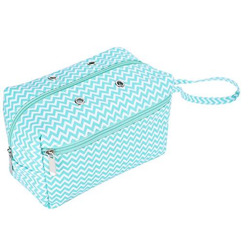 Bolsa organizadora de ganchillo portátil, 8.3x4.7x5.1in Bolsa de tejido de transporte para madejas de hilo, ganchos de ganchillo, agujas de tejer, herramienta de tejer (S)