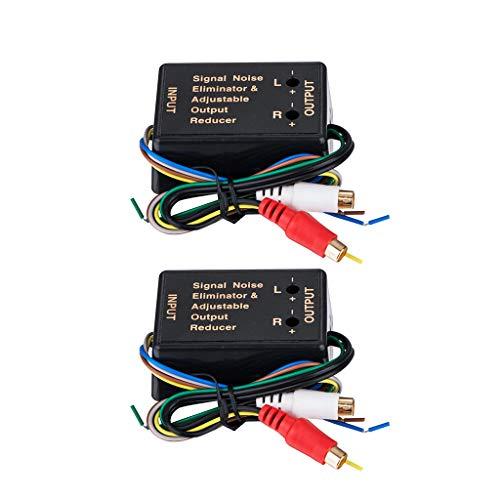 F Fityle 2X Adaptateur Haut-Parleur Audio RCA Haut Niveau Bas Transformateur