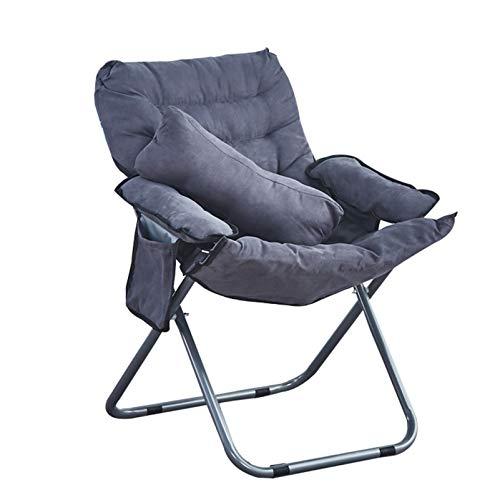 LINGZE Silla Plegable, sillón, sofá, sillón con Asiento Suave Acolchado y reposapiés