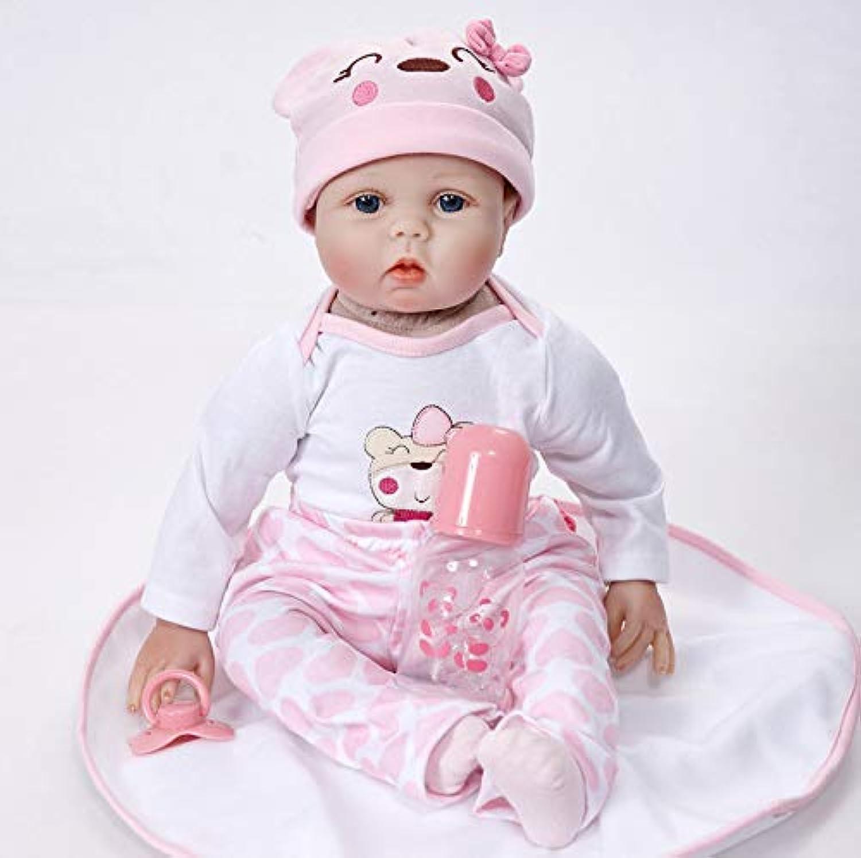 bajo precio Reborn Baby Doll 55 Cm Realista Silicona Silicona Silicona Real Touch Bebés Recién Nacidos Juguete Con Ropa Cumpleaños De Navidad Para Niños Regalo - Paño Con Algodón No Se Puede Lavar  60% de descuento