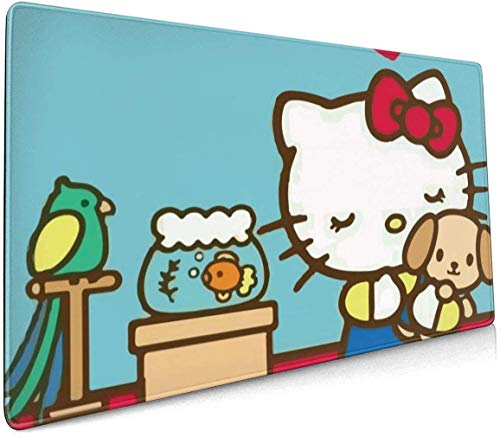 Alfombrilla de ratón extendida para ordenador de juegos Hello Kitty XXL