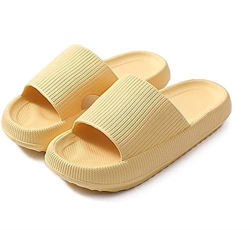 XiuLi Traje de baño para Mujer Sandalia Tipo Zapatilla Zapatos de Playa y Piscina para Mujer (Color : Yellow, Size : 5-6 Women/4-4.5 Men)
