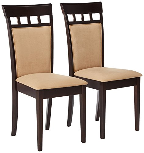 Gabriel Upholstered Back Panel Side Chairs Cappuccino and Beige (Set of 2) Idaho