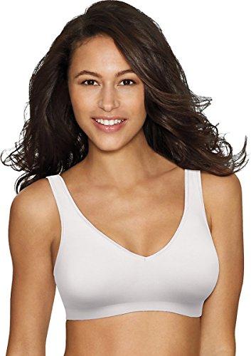 Hanes Womens Comfort Evolution ComfortFlex Fit Wirefree Bra(G796)-White-L