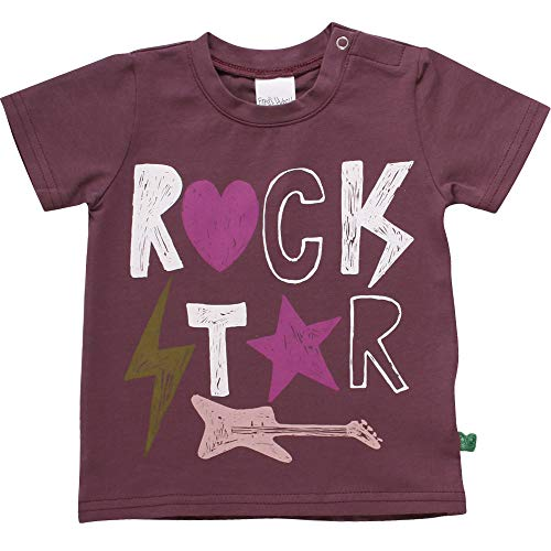 Fred'S World By Green Cotton Star Rock S/s T T-Shirt, Violet (Plum Purple 019231101), 74 Bébé Fille