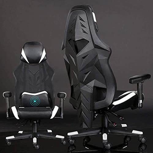 N&O Renovierungshaus Bürostühle Racing Style Gaming Stuhl Ergonomischer Mesh-Bürostuhl mit hoher Rückenlehne Drehbarer Computer-Gamer-Stuhl Höhenverstellung mit Lendenwirbelstütze Kopfstütze