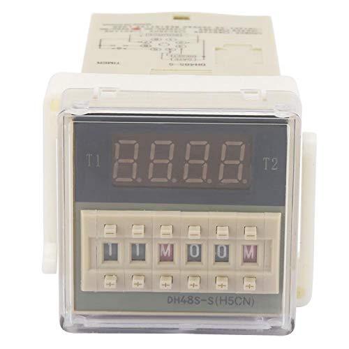 Relé de tiempo digital O111ROM Relé de tiempo de conductividad excelente Relé de retardo de tiempo Equipo eléctrico para talleres de fábrica(24VAC/DC, Pisa Leaning Tower Type)