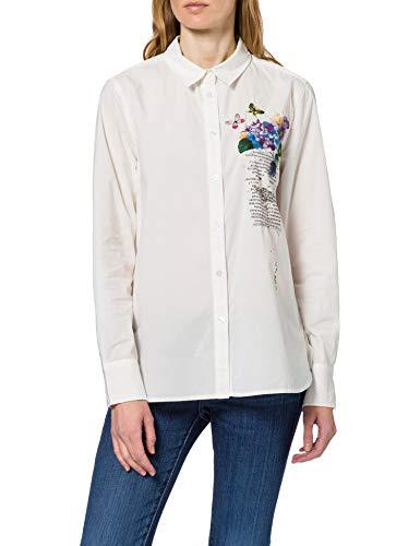 Desigual CAM_Amazonas Camiseta, Blanco, XL para Mujer