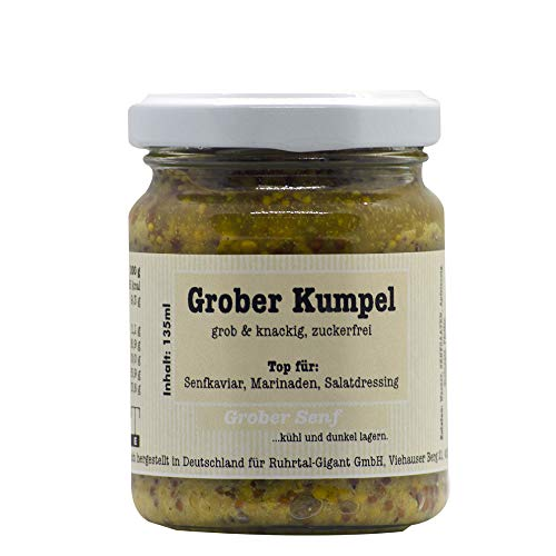 Kraft-Ernte Grober Kumpel I Ganzkornsenf I Grob und knackig I Senf I Zuckerfrei I Im Glas I Senfkörner (2)