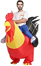 ASENVER Inflatable Costume Rooster Pumpkin Horse Dinosaur Santa ET Sumo Costume Suit For Christmas New Year Halloween
