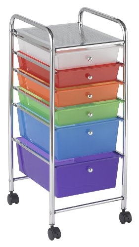 6-Drawer Mobile Organizer, Assorted Colors