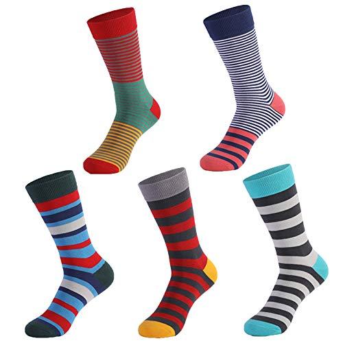 Marijee - 5 pares de calcetín de algodón, calcetines suaves, calcetines deportivos cortos de algodón, calcetines bajos clásicos, calcetines de yoga antideslizantes para hombre y mujer