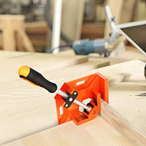Wood Clamps For Woodworking, Basecent Metal Corner Clamps For Woodworking, 90 Degree Right Angle Clamps Clips Jigs Tool / Woodwork Vise Holder For Picture Frame Making / Welding Joint Tube