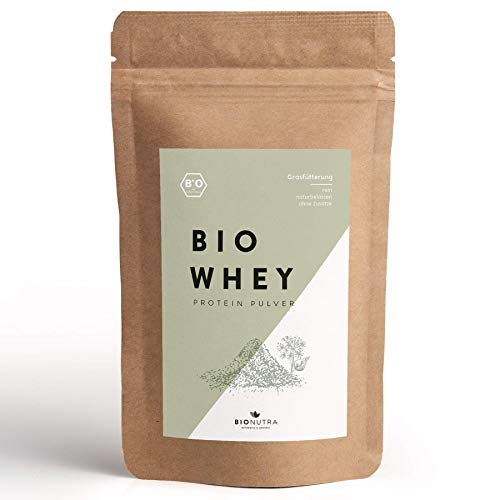 BioNutra Organic Whey | 1kg Protein Powder | Unflavoured | Certified Organic Whey from Grass Fed Cows | Pure and Natural Whey | No Additives | Made in Germany