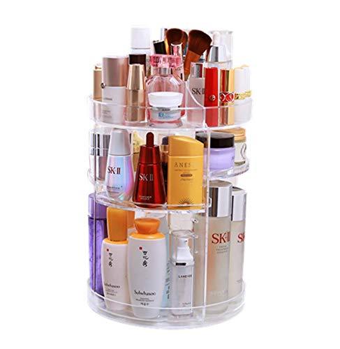 Lx-Top 360 Degrés Rotatif Organisateur de Maquillage Plus épais Stockage cosmétique Grande capacité avec 6 Couches Réglable